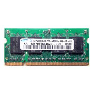 Модуль памяти SO-DDR2 512 МБ PC-4200 553 Mhz Samsung, SEC (M470T6554CZ3-CD5)