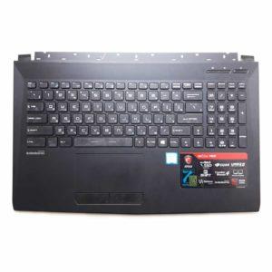 Верхняя часть корпуса с клавиатурой для ноутбука MSI GL62, GL62M, GL62M 7RD без тачпада (3076J5C615Y87, INM16JTP02K5101, V143422DK1 RU, S1N3ERU, S1N3ERU2V1SA000) Б/У