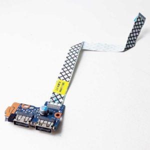 Плата кнопки включения, старта, запуска + 2xUSB со шлейфом 12-pin 200×13 мм для ноутбука Samsung NP350E5C, NP355E5C, NP350V5C, NP355V5C, 350E5C, 355E5C, 350V5C, 355V5C (LS-8865P, NBX00017L00)
