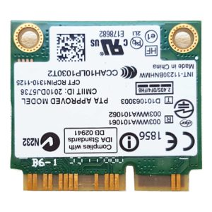Модуль Wi-Fi + Bluetooth 3.0 Intel Centrino Wireless-N 130 (130BNHMW, PD9130BNH, 1000M-130BNH, G15170-006, INT-11230BNHMW)