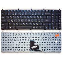 Клавиатура для ноутбука DNS C5500, W765K, W76T, Clevo K107, B5120, B5121, C4500, C4800, C5100Q, C5500, C5500Q, W170, W170ER, W240BU, W240CU, W255, W255E, W255EU, W255H, W255HU, W760C, W760CU, W760CUH, W765CU, W765CUH, W765S, Aquarius NS725, Expert Line ELN11156, ELN12156, Gigabyte Q1700, Q1700C, iRu Patriot 502, Roverbook Steel N60x, N607 Black Черная (002-08J43L-D01)