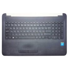 Верхняя часть корпуса с клавиатурой и тачпадом для ноутбука HP 15-ac, 15-af, 15-ac000, 15-af000, 15-acXXX, 15-afXXX, 250 G4, 255 G4, TPN-C125 (AP1EM000A00, AP1EM000300, FA1EM000N00, AHL50_LOG_UP_DF_US_UK, AHL50_LOG_UP_SUB_DF_US, PK131EM3A05, HPM14P13SU-698, Synaptics TM3127, 920-003062-01Rev3, TM-03127-001 TC524)