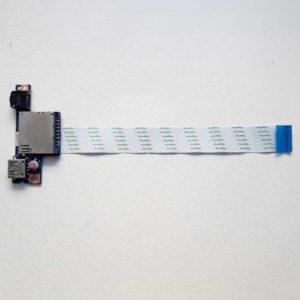 Плата AUDIO, USB, Card Reader со шлейфом 18-pin 180 мм для ноутбука Lenovo G50-30, G50-45, G50-70 (ACLU2/ACLU4 NS-A275, ACLU2_USB_FFC NBX0001AH00)
