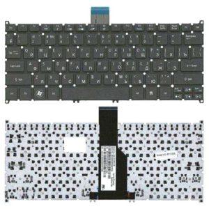 Клавиатура для ноутбука Acer Aspire S3, S5, S3-391, S3-951, S5-391, S3-951-2464G34, S3-951-2464G24, S3-951-2634G52, S3-951-2634G25, V5-121, V5-122, V5-122P, V5-131, V5-171 Aspire One 756, 725, 752, TravelMate B1, B113, B113-E, B113-M Black Черная (OEM)