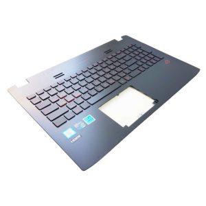 Верхняя часть корпуса с клавиатурой и подсветкой для ноутбука Asus GL552V, GL552J, GL552VW, GL552VL, GL552VX, GL552VXK, GL552JX без тачпада (13NB07Z1AP0331, 13N0-RZA0F31, NSK-UPSBU, 0KNB0-662GRU00, 0KN0-RZ1RU13, 9Z.N8BBU.S0R)