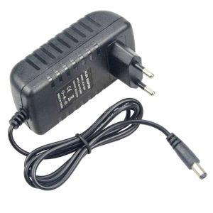 Блок питания для монитора, модема, роутера, ТВ-приставки, ресивера, камеры наблюдения, панели бегущей строки, зарядки аккумуляторов различных устройств 12V 1A 12W 5.5×2.5 Black Черный, настенный (OEM)