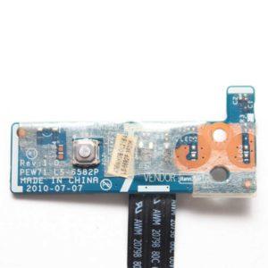 Кнопка включения, старта, запуска со шлейфом для ноутбука Acer Aspire 5733, 5736, 5742, Packard Bell TK13, eMachines E442, E644, E642 (LS-6582P, NBX0000RN00)