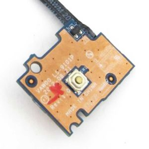 Кнопка включения, старта, запуска со шлейфом 4-pin для ноутбука Dell Inspiron 3521, 3537 (LS-9101P, NBX00019O00)